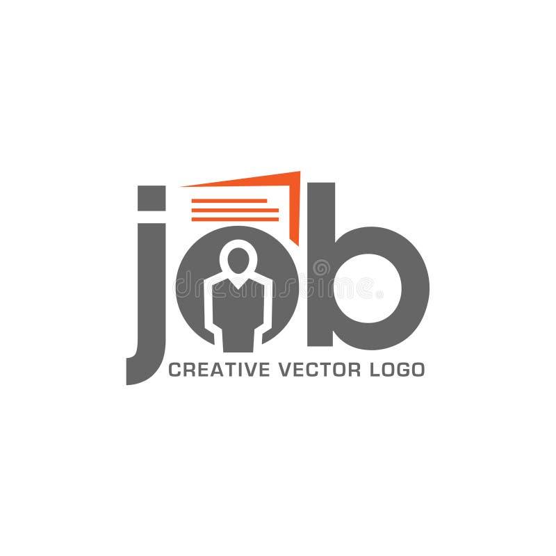 Carrera de la entrevista y de la caza de trabajo ilustración del vector