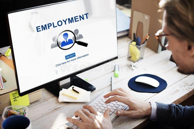 Carrera Job Occupation Hiring Concept del empleo fotografía de archivo libre de regalías