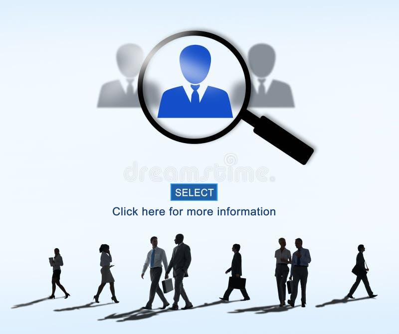 Carrera Job Occupation Hiring Concept del empleo fotos de archivo