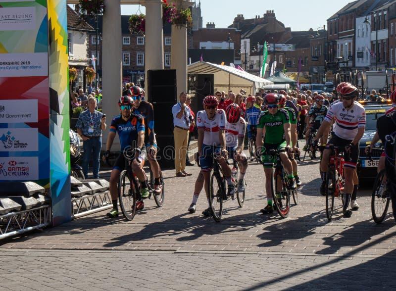 Carrera masculina de Yorkshire Para-Cycling International B foto de archivo libre de regalías