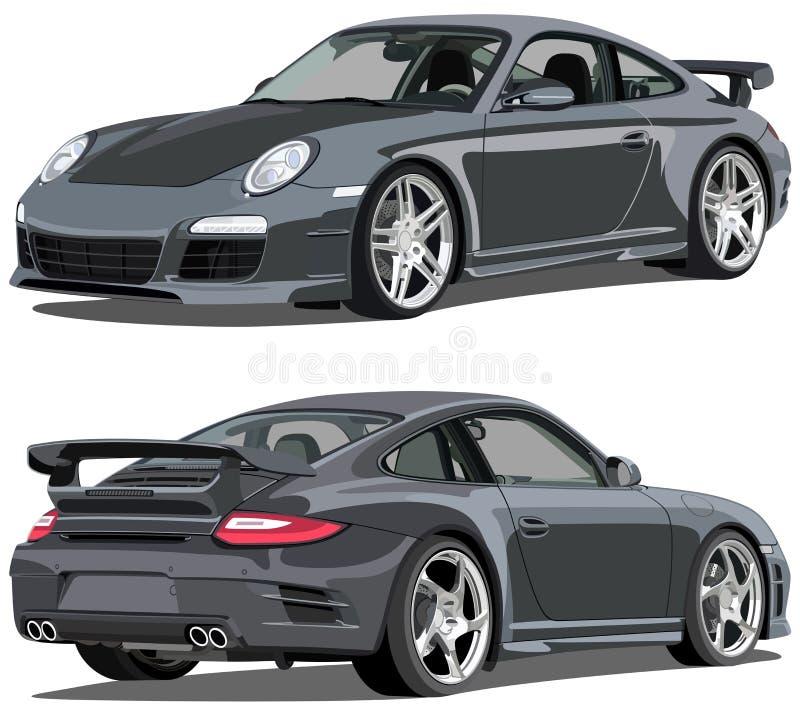 Carrera Porsches 911 stock abbildung