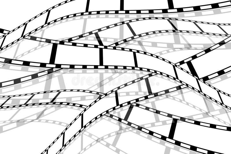 Carretéis de película ilustração royalty free