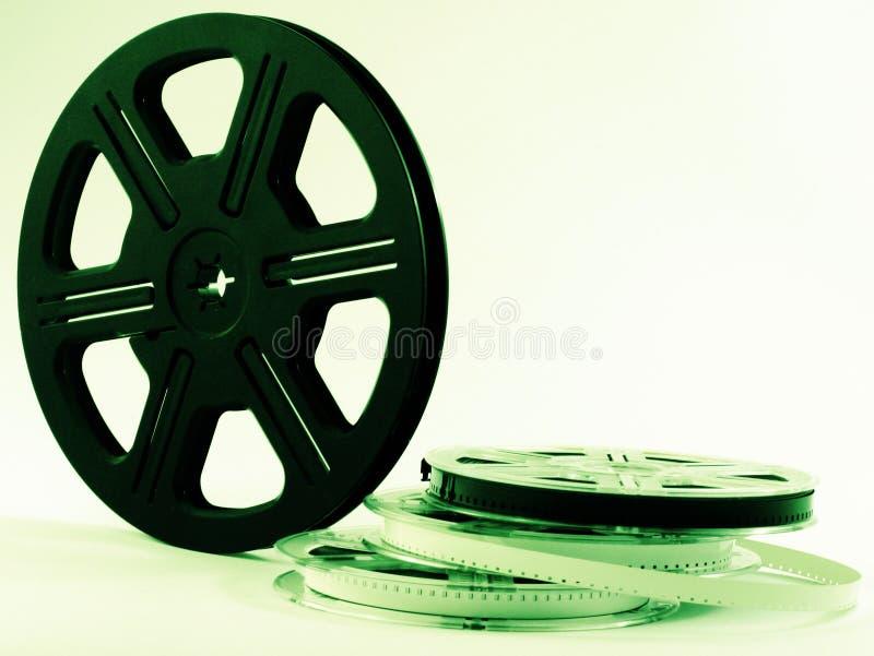 Carretéis de película com películas imagem de stock