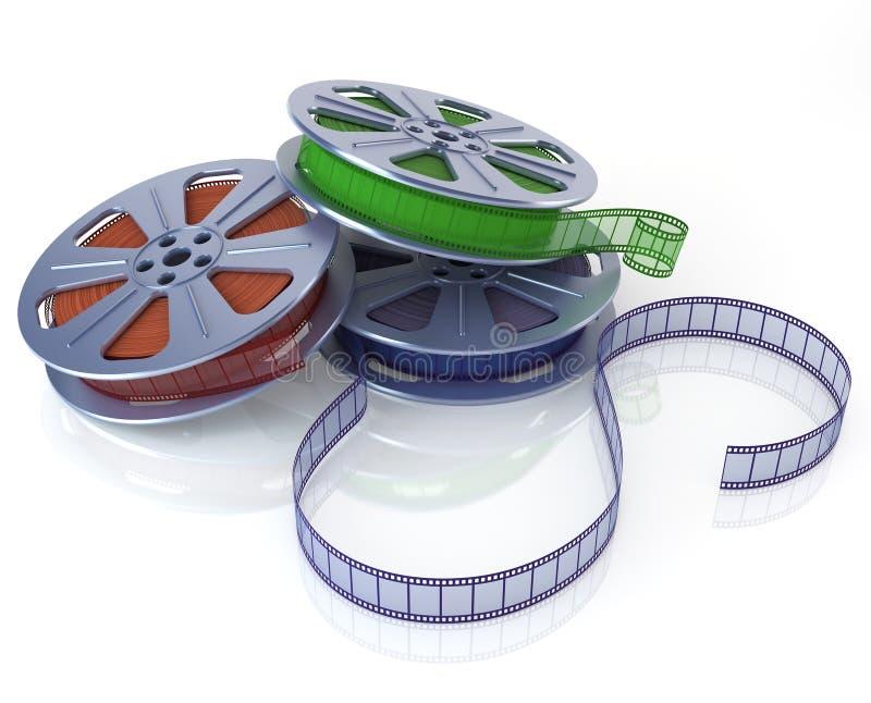 Carretéis de película do cinema ilustração royalty free