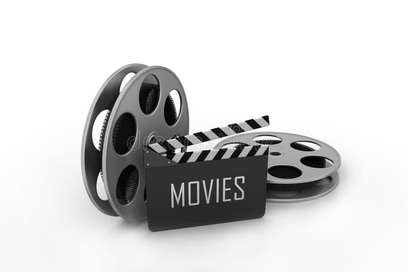 Carretéis de película e placa de válvula ilustração do vetor