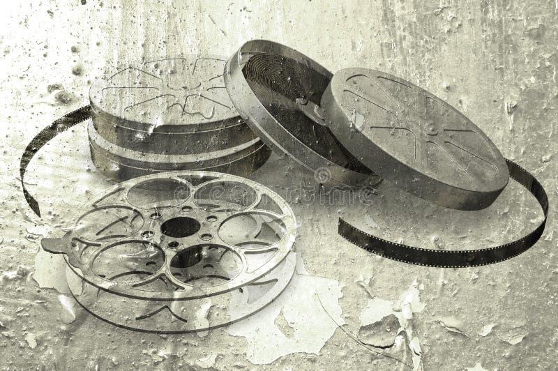 Carretéis de películas de Grunge ilustração stock