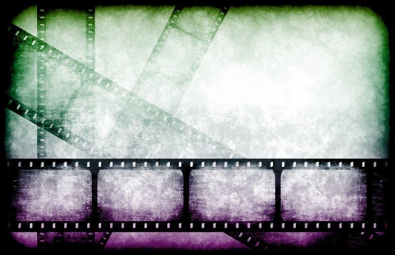 Carretéis do destaque da indústria cinematográfica ilustração do vetor