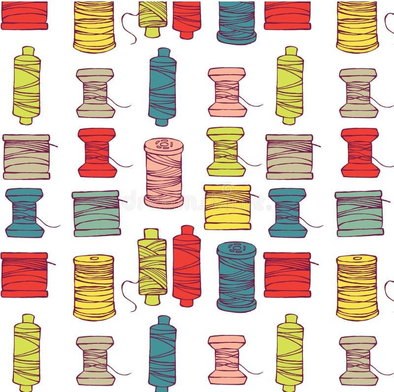 Carretéis do teste padrão da linha ilustração stock