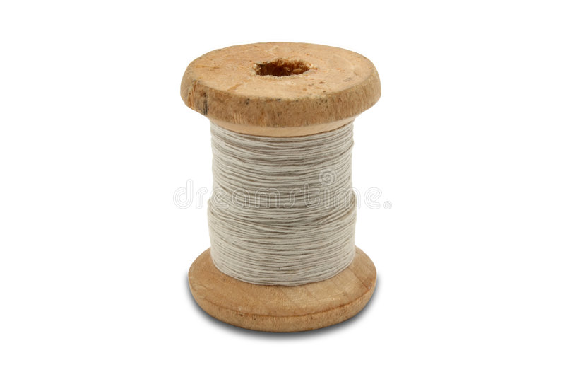Carrete de la cuerda de rosca fotografía de archivo