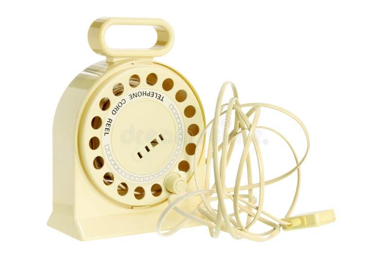 Carrete De La Cuerda De Teléfono Foto de archivo libre de regalías