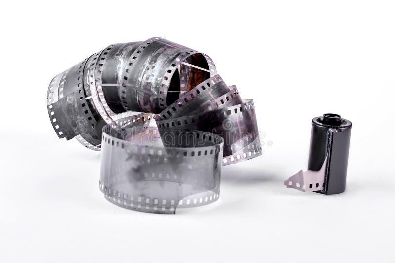 Carrete de película del vintage en el fondo blanco foto de archivo libre de regalías