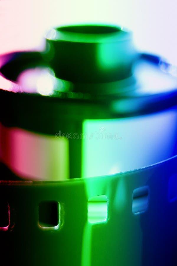 Carrete de película - dof muy pequeño - falta de definición imagenes de archivo