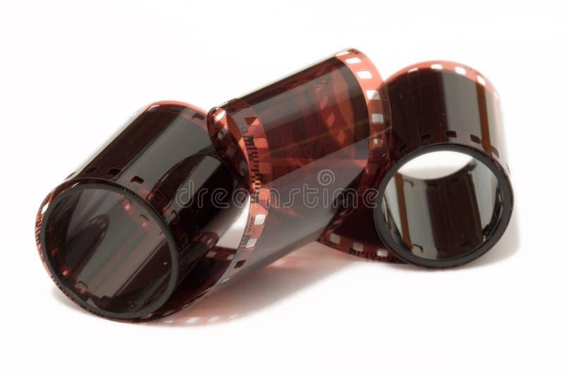 Carrete De Película Enredado Foto de archivo