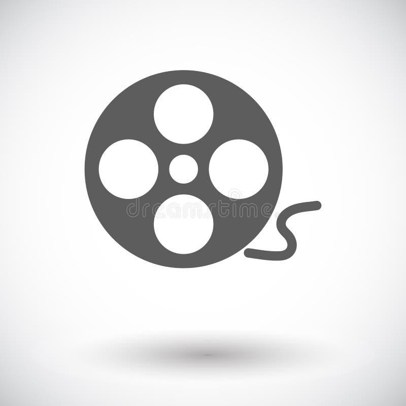 Carrete del icono de la película stock de ilustración