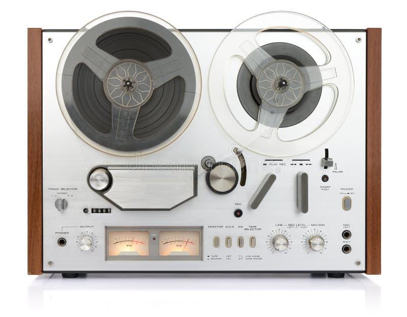 Carretel análogo do registrador do vintage a bobinar imagem de stock