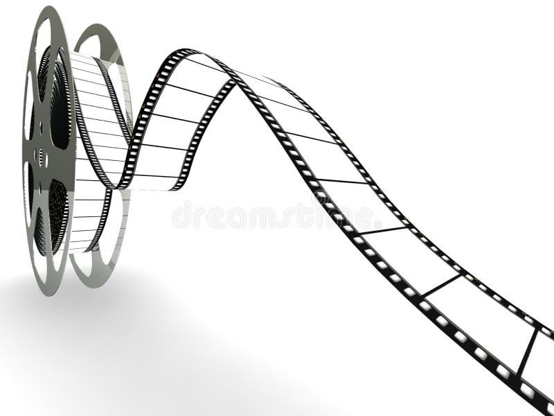 Carretel da película de filme em branco ilustração royalty free