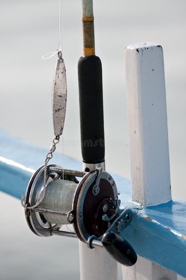 Carretel da pesca de mar profundo imagens de stock