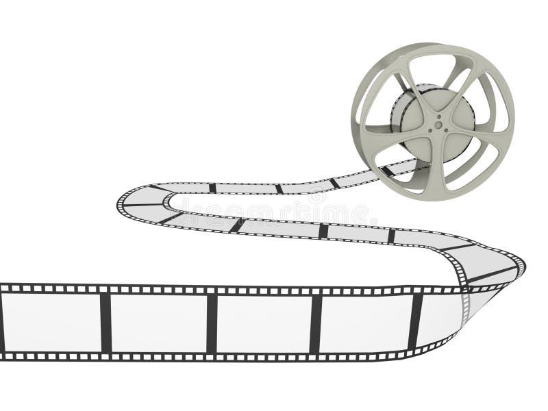 Carretel de película com tira ilustração stock