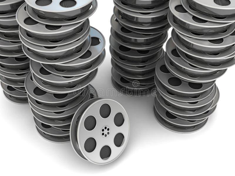Carretel de película do filme ilustração stock