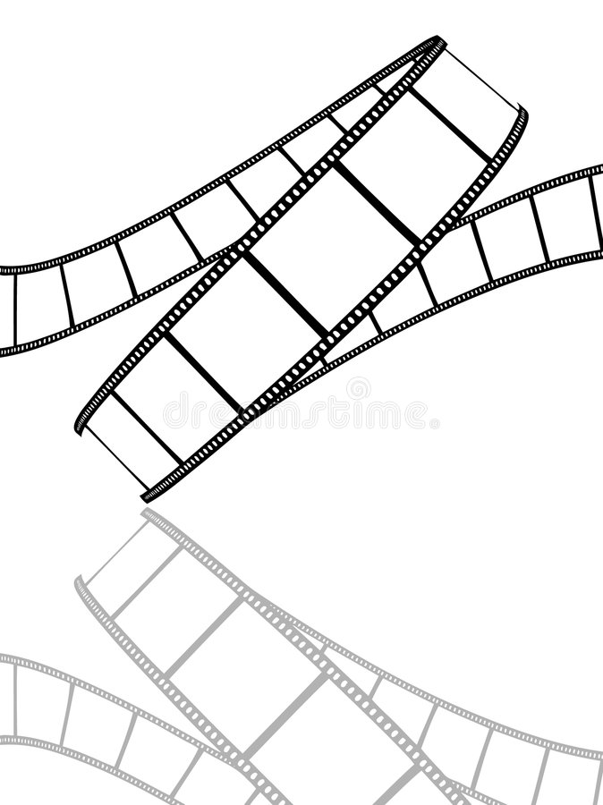Carretel de película isolado ilustração stock