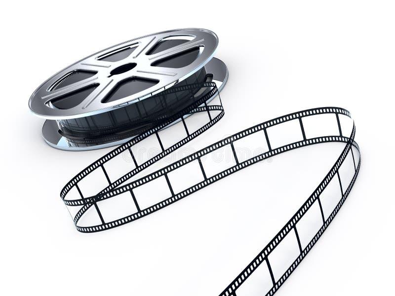 Carretel de películas do filme ilustração stock