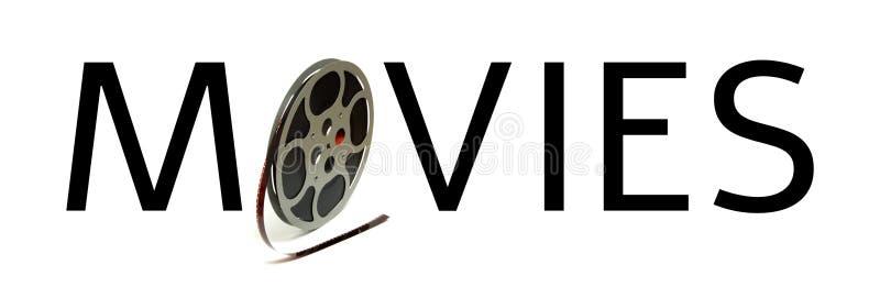 Carretel dos filmes da tipografia imagem de stock