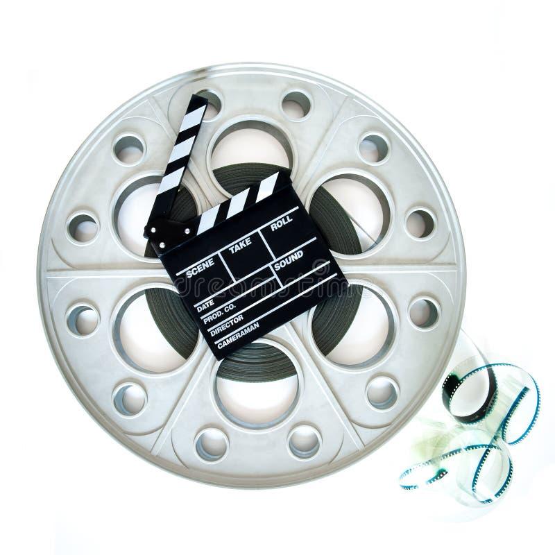 Carretel grande original do filme para o projetor do cinema de 35mm com válvula imagem de stock royalty free