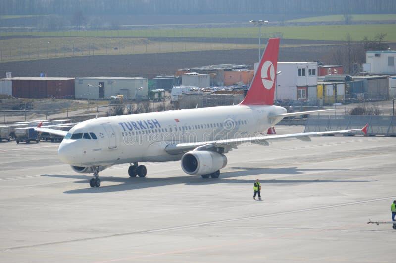 Carreteo de Airbus fotografía de archivo