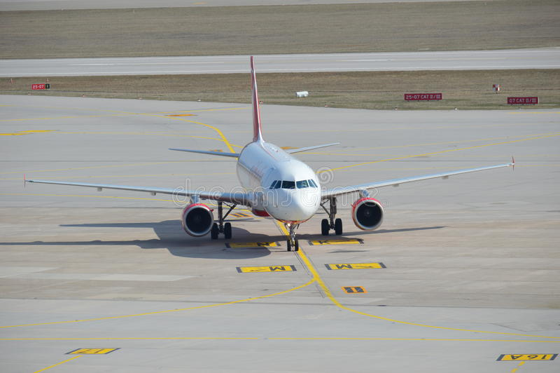 Carreteo de Airbus fotos de archivo