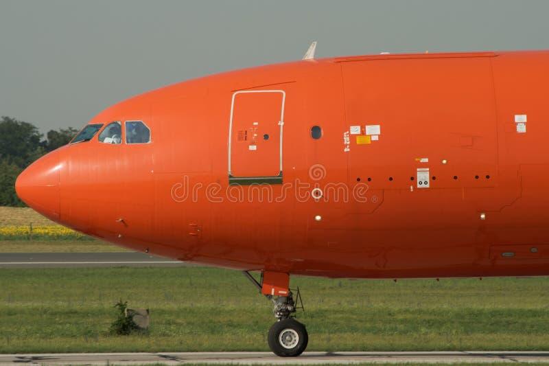 Carreteo del aeroplano del jet foto de archivo libre de regalías