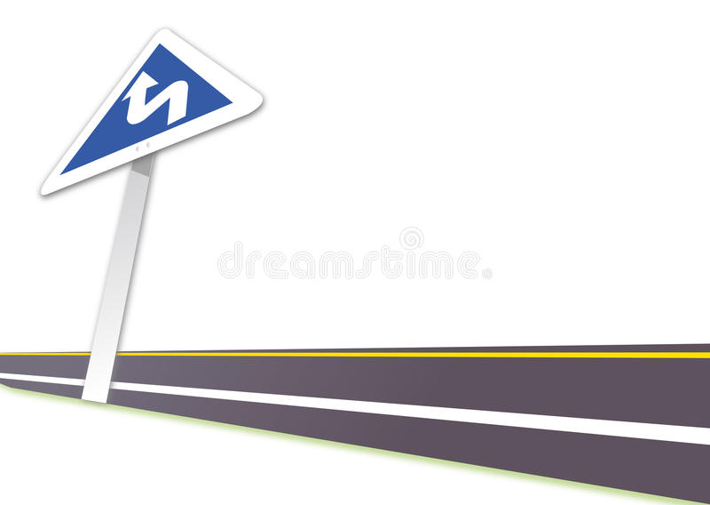 Carretera stock de ilustración