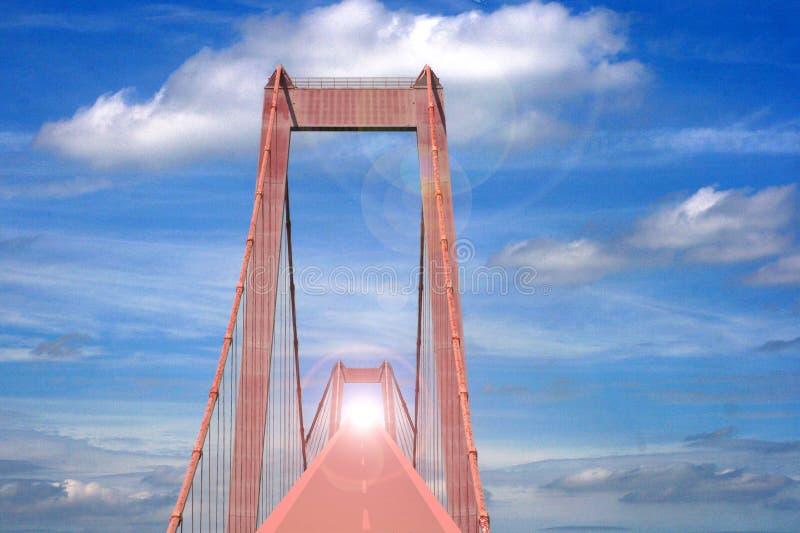 Carretera al cielo foto de archivo