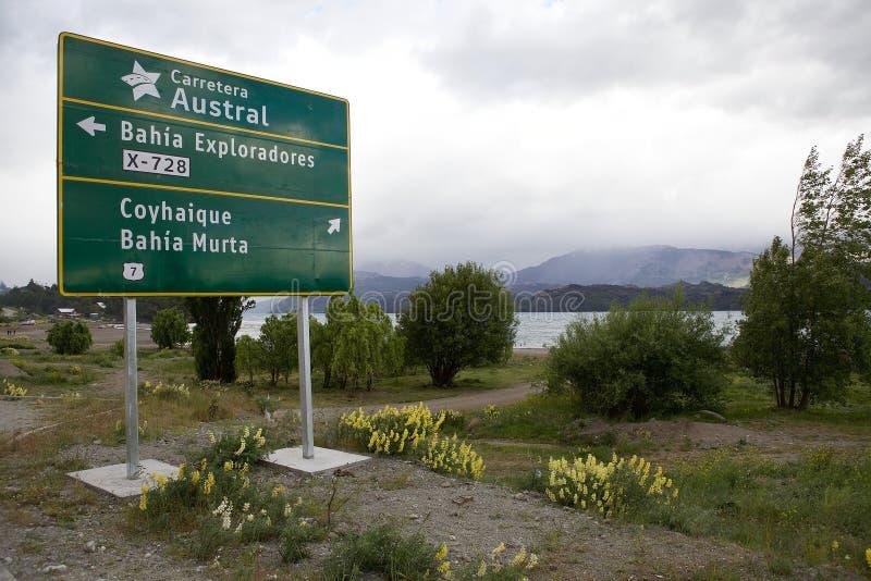 Carretera Austral em Puerto Rio Tranquilo, Patagonia, o Chile imagens de stock royalty free