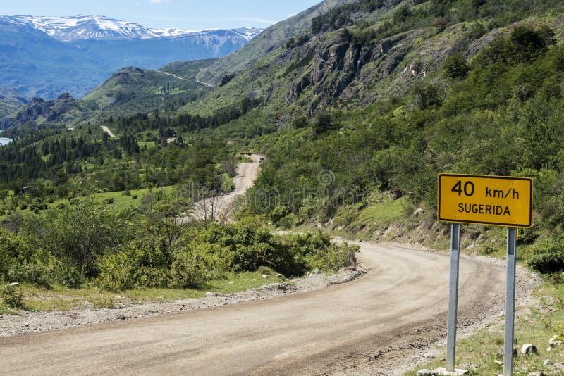 Carretera austral im Paprika lizenzfreie stockfotografie