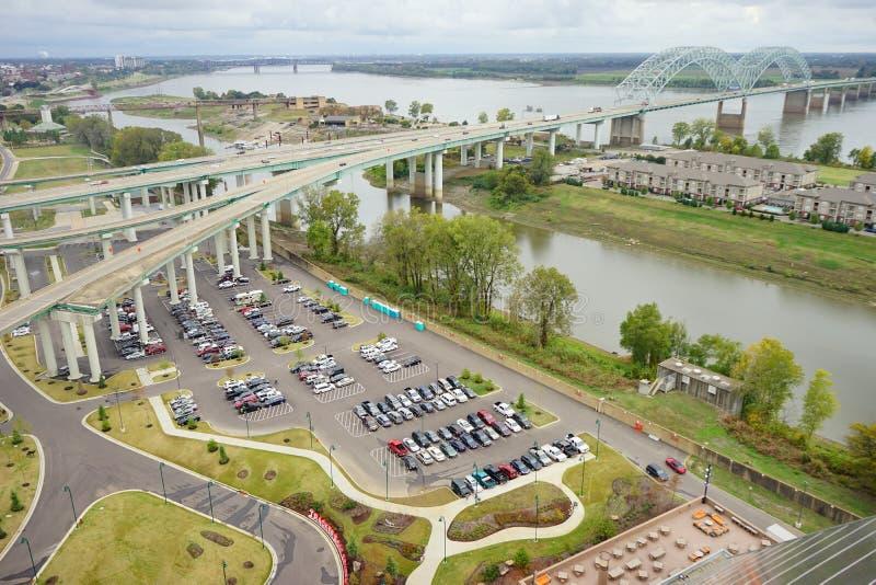 Carretera céntrica de Memphis fotos de archivo