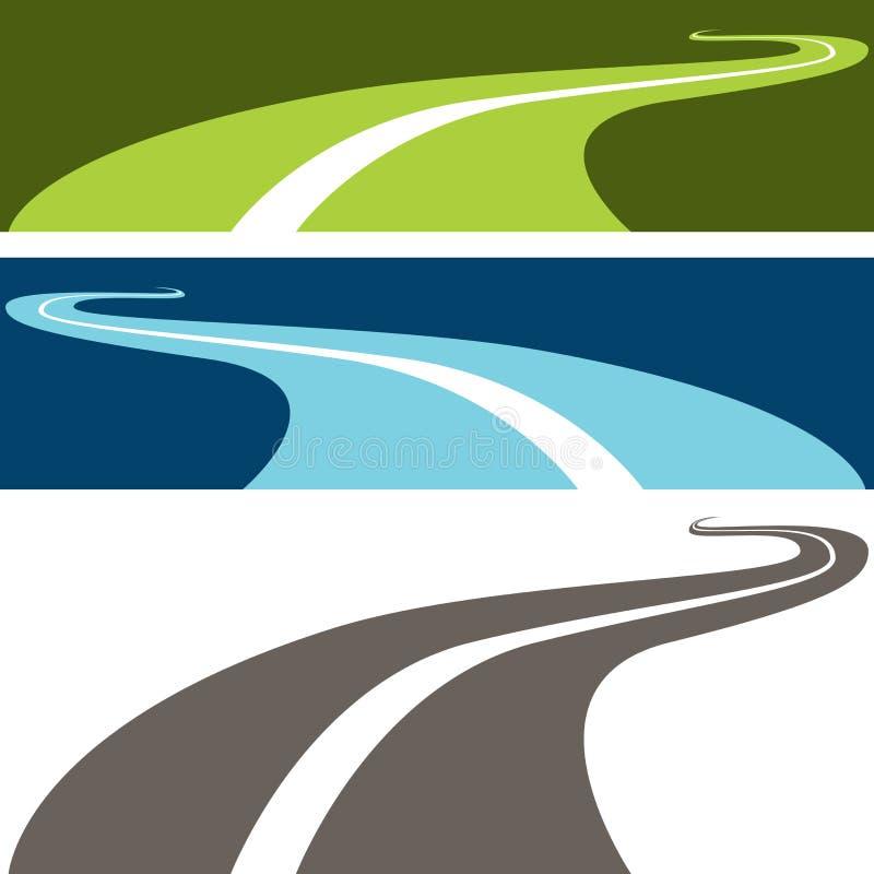 Carretera con curvas libre illustration