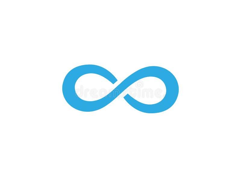 Carretera con curvas azul para el ejemplo del diseño del logotipo ilustración del vector