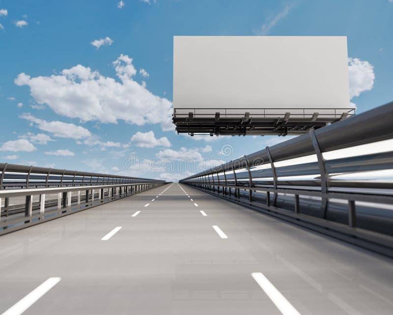 Carretera con la cartelera libre illustration