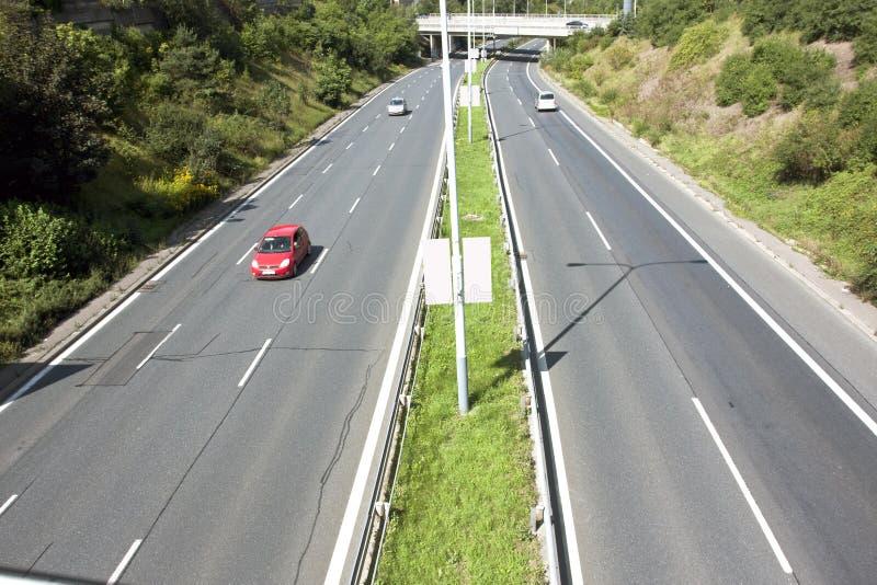 Carretera con varios carriles libre foto de archivo
