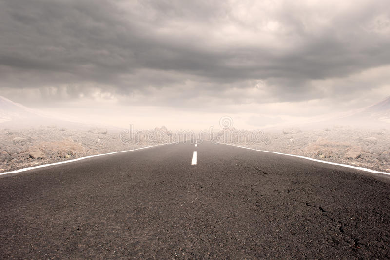 Carretera de asfalto fotos de archivo libres de regalías