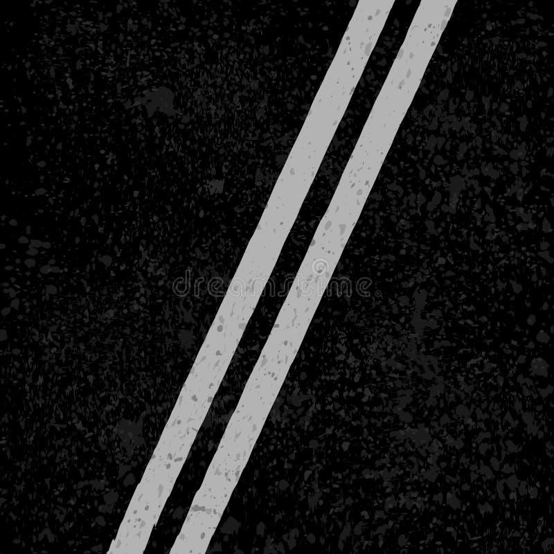 Carretera de asfalto con las líneas blancas libre illustration