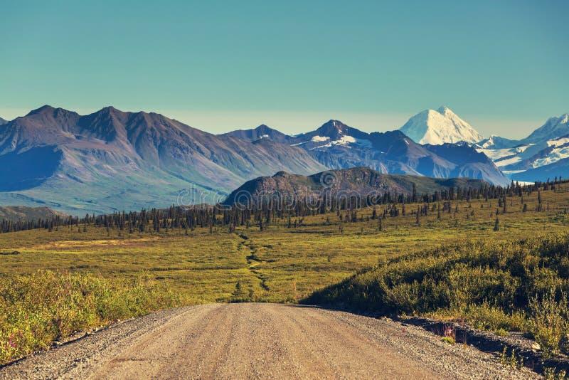 Carretera de Denali imagenes de archivo