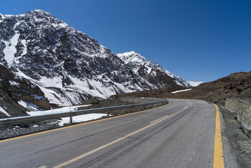 Carretera de Karakorum de Paquistán a China, Khunjerab, Paquistán fotografía de archivo libre de regalías