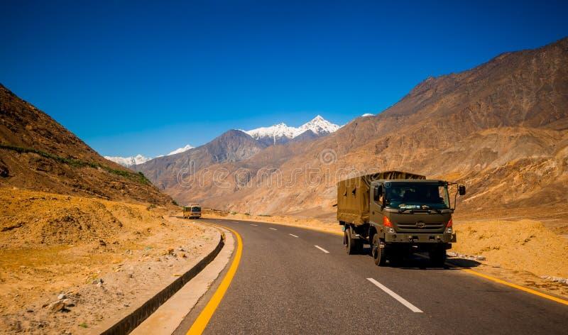 Carretera de Karakorum en Paquistán imágenes de archivo libres de regalías