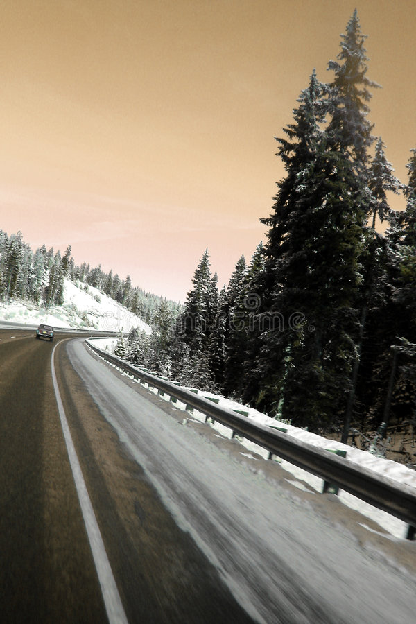 Carretera de la montaña foto de archivo