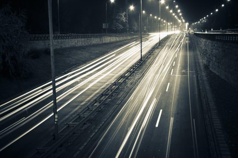 Carretera de la noche imágenes de archivo libres de regalías