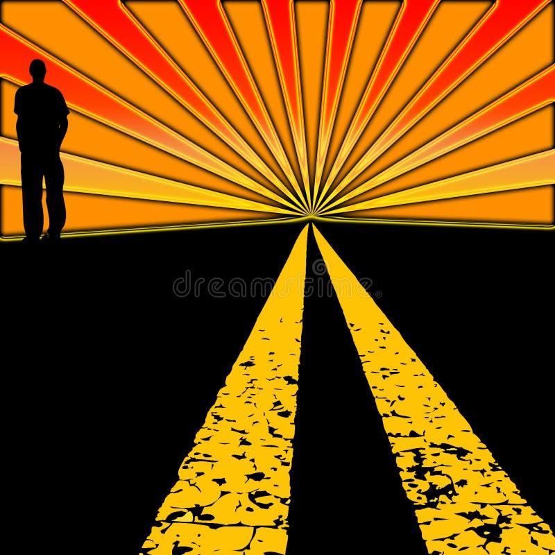 Carretera de la puesta del sol imágenes de archivo libres de regalías