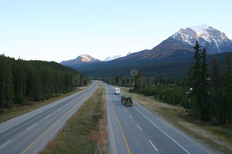 Carretera del canadiense del transporte imagen de archivo libre de regalías