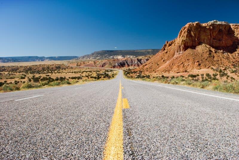 Carretera del desierto foto de archivo libre de regalías