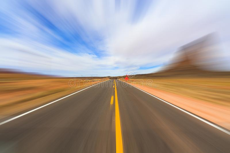 Carretera del desierto de Arizona imagen de archivo